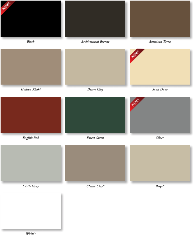 Exterior decorative color options for double hung windows