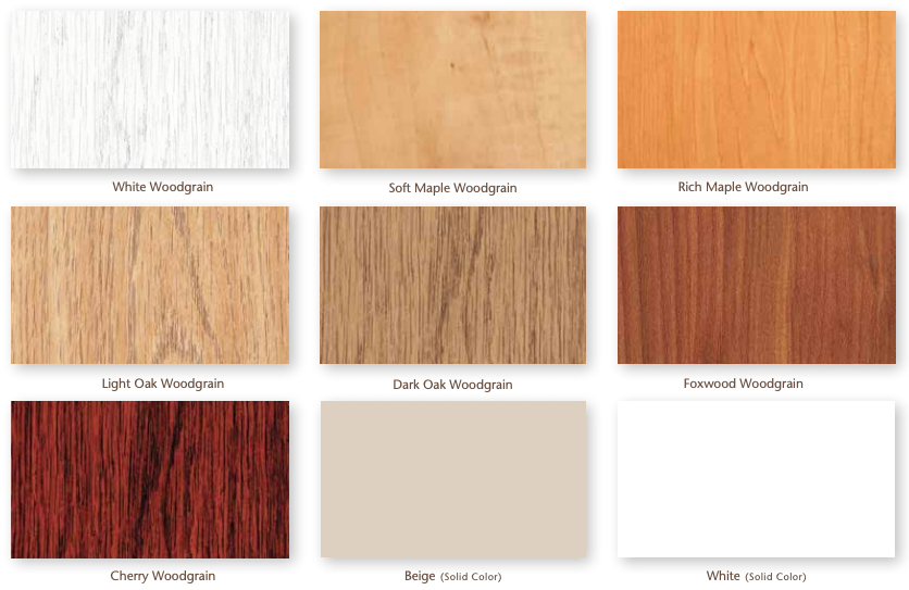 Interior decorative color options for double hung windows