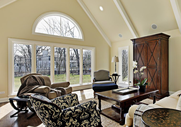 Interior wall of windows