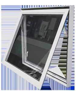 White hopper/awning window