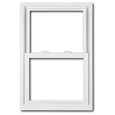 White double hung window