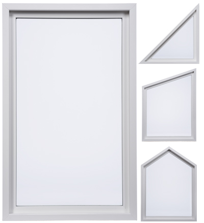 white fixed, or picture, window